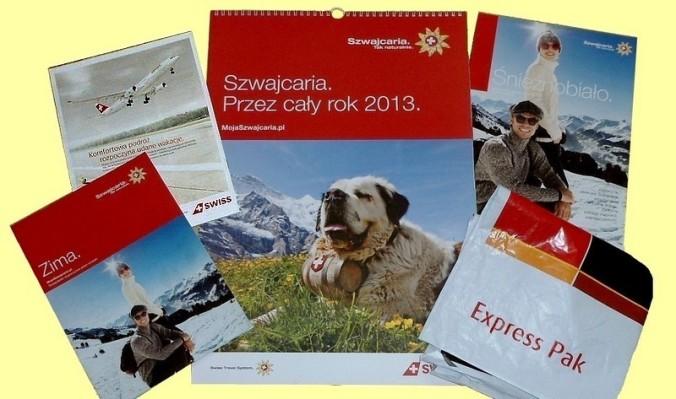 Express Pak z zaproszeniem do Szwajcarii