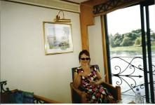 MISS WORLD. Widok z okna statku